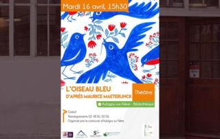 Salomé Elhadad Ramon et Lucie Contet dans l'Oiseau bleu de Maurice Maeterlinck, le 16 avril au théâtre d'Aubigny