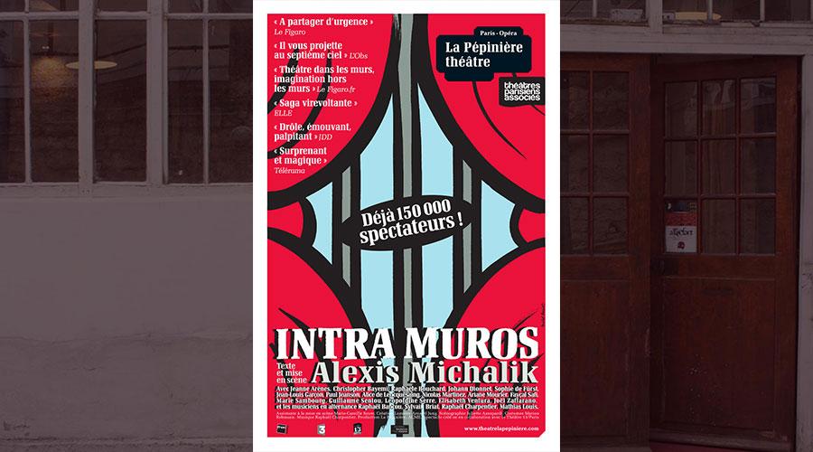 Christopher Bayemi dans Intra muros d'Alexis Michalik, depuis septembre 2018 à la Pépinière théâtre